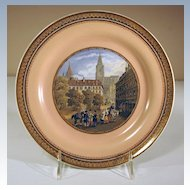 19th Century F & R Pratt Multicolor Printed Plate