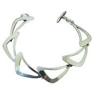 N.E. From Modernist Silver Bracelet