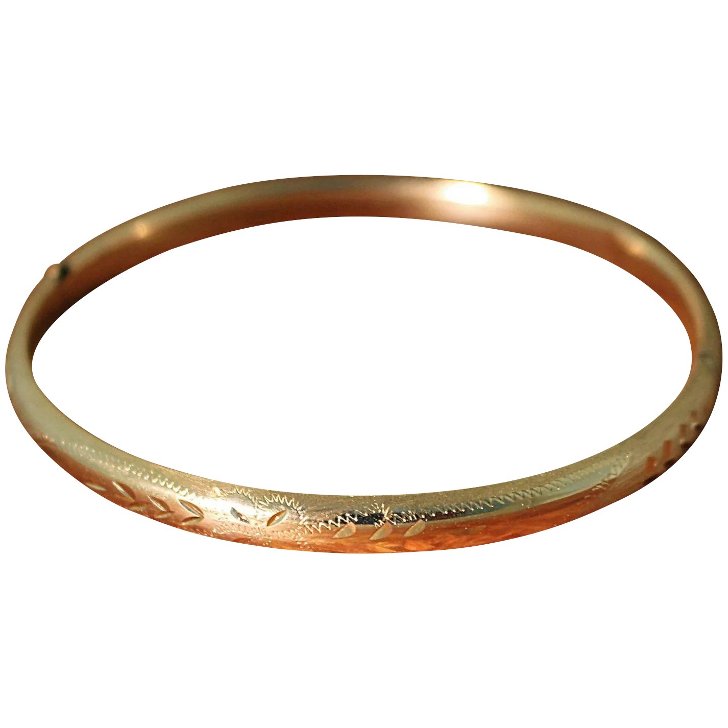 hinged bracelets polished karat free bangle jewelry shipping bangles overstock watches today gold product