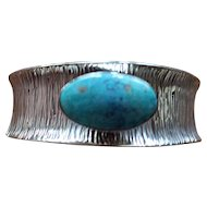 Silver Navajo Bracelet Turquoise Cuff Peter Johnson
