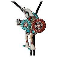 Vintage Joe Zunie Bolo Tie Inlaid Dancer