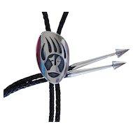 Vintage Silver Bolo Tie Hopi Riley Polequaptewa
