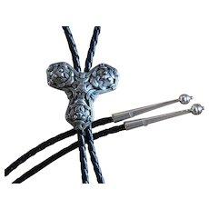 Vintage David Andersen Silver Viking Bolo Tie