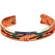 Vintage Navajo Silver Bracelet Delvin J Nelson