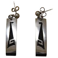 Hopi Silver Earrings Daniel Phillips