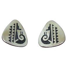 Vintage Hopi Silver Earrings