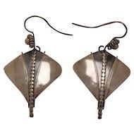 Vintage Silver Earrings Dangle Unusual
