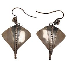 Vintage Silver Earrings Dangle Unusual