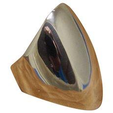 Vintage Silver Ring Kaunis Koru Modernist
