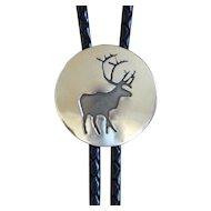 Silver Bolo Tie Southwestern Elk Kayla Shadow