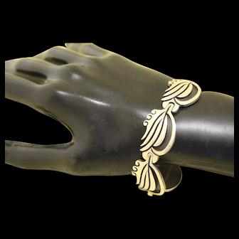 Vintage Taxco Silver Bracelet Pre Columbian Style