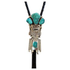 Vintage Navajo Silver Bolo Tie Figural Lincoln Shepherd