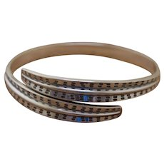 Silver Bangle Bracelet David Andersen Norway