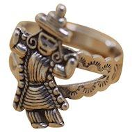 Vintage Silver Ring Southwestern Dancer Figural