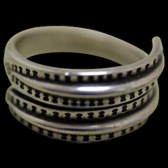 David Andersen Silver Ring Viking Saga Series
