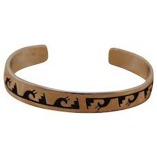 Vintage Hopi Silver Bracelet Kevin Takala