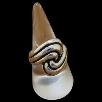 Vintage Silver Ring Modernist