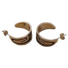 Vintage Hopi Silver Earrings Mitchell Sockyma
