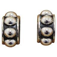 Brenda Schoenfeld Silver Earrings Taxco 1990s