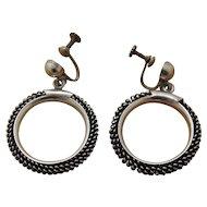 Vintage Mexican Silver Earrings Castelan
