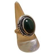 Navajo SIlver Ring Malachite