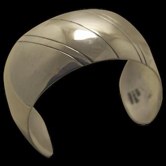 Taxco Silver Bracelet Modernist Cuff
