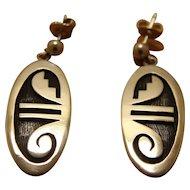 Silver Hopi Earrings Alvin Taylor