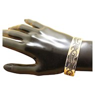 Vintage Taxco Silver Bracelet Cuff