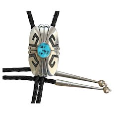 Vintage Tommy Singer Bolo Tie Turquoise