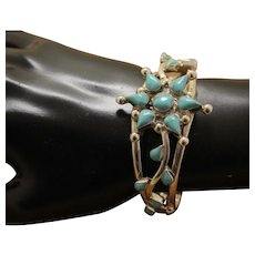 Mexican Silver Turquoise Bracelet