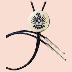 Navajo Silver Bolo Tie Bird Figure