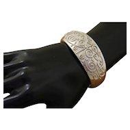 Vintage Silver Bracelet Decorated