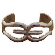 Vintage Navajo Silver Bracelet Cast
