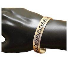 Hopi Silver Bracelet Abstract Design
