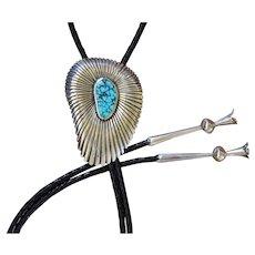 Navajo Silver Bolo Tie Emerson Bill High Quality