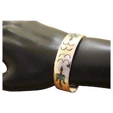 Silver Southwestern Bracelet Inlaid Stone