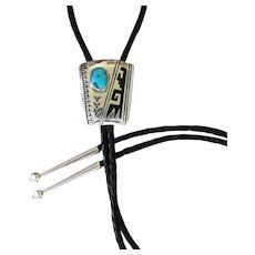 Navajo Silver Bolo Tie Tommy Singer