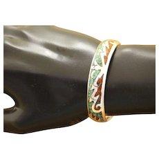 Navajo SIlver Bracelet Inlaid Turquoise Kelly Jack