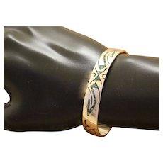 Sterling Silver Bracelet Inlaid Southwestern