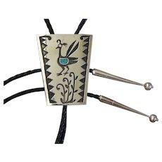 Vintage Silver Bolo Tie Native American