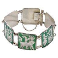 Vintage Sterling Silver David Andersen Fairy Tale Bracelet