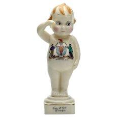 Royal Staffordshire Saluting China Kewpie Doll C. 1918