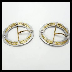 Lovely Pair of Jeweled Shoe Buckles