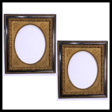 Pair of Antique Wood and Gilded Gesso Picture Frames