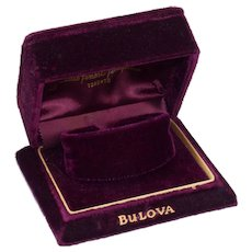 Vintage Deco Bulova Watch Box