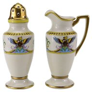 Vintage Noritake Hand Painted Creamer and Sugar
