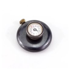 Unusual Antique Gunmetal Buttonhole Watch