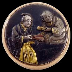 Shakudo and Gold Button