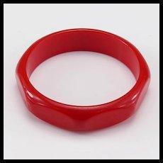 Vintage Red Bakelite Bracelet