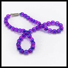 Vintage Lustrous Purple Glass Beads